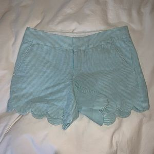 Lilly Pulitzer Blue Seersuckers Shorts